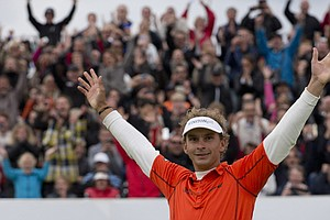 Joost Luiten won the KLM Open on Sept. 15 at Kennemer in Zandvoort, The Netherlands.