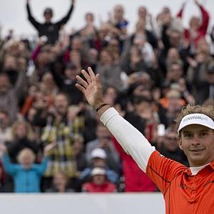 Joost Luiten won the KLM Open on Sept. 15 at Kennemer in Zandvoort, The Netherlands.