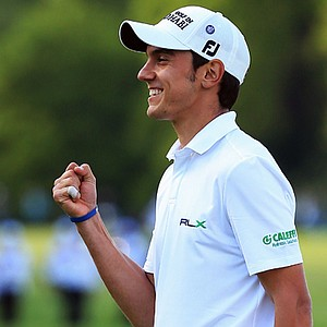 Matteo Manassero won the BMW PGA Championship on May 26 at Wentworth Club in Surrey, England.