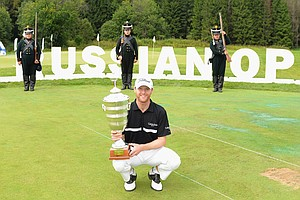 Michael Hoey won the M2M Russian Open on July 28 at Tseleevo Golf & Polo Club in Moscow, Russia.