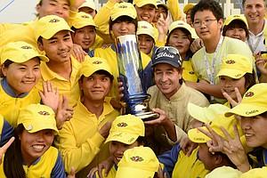 Brett Rumford won the Volvo China Open on May 5 at Binhai Lake in Tianjin, China.