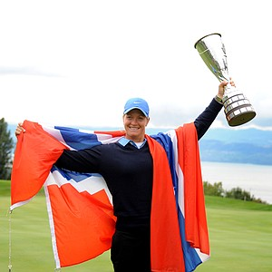 Suzann Pettersen won the Evian Championship in the French Alps town of Evian-les-Bains, September 15, 2013. Earnings: $487,500