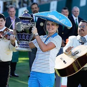 Lexi Thompson won the Lorena Ochoa Invitational Presented by Banamex at the Guadalajara Country Club, November 17, 2013. Earnings: $200,000