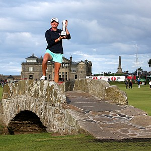 Stacy Lewis of the US won the Women's British Open on the Old Course at St Andrews, Scotland, August 4, 2013. Earnings: $402,584