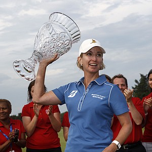 Karrie Webb, of Australia, won the ShopRite LPGA Classic presented by Acer in Galloway Township, N.J., June 2, 2013. Earnings: $225,000