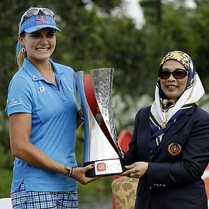 Lexi Thompson, won the Sime Darby LPGA Malaysia in Kuala Lumpur, Malaysia, October 13, 2013. Earnings: $300,000
