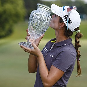 Beatriz Recari, of Spain, won the Marathon Classic at Highland Meadows Golf Club in Sylvania, Ohio, July 21, 2013. Earnings: $195,000