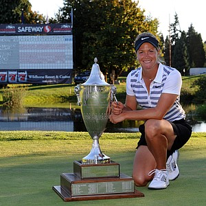 Suzann Pettersen won the Safeway Classic presented by Coca-Cola in Portland, Ore., September 1, 2013. Earnings: $195,000