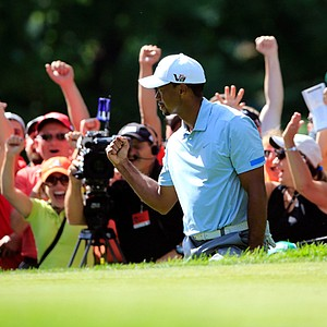 Tiger Woods won the WGC-Bridgestone Invitational on Aug. 4 at Firestone CC's South course in Akron, Ohio. Earnings: $1,500,000
