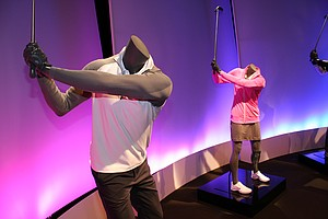 Nike Golf apparel is shown off at the company's recent Innovation Unleashed event.