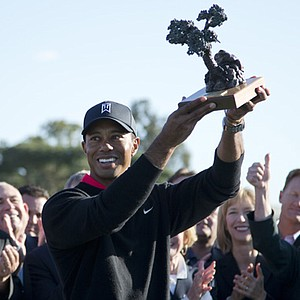 Tiger Woods won the Farmers Insurance Open on Jan. 27 at Torrey Pines GC in San Diego. Earnings: $1,098,000