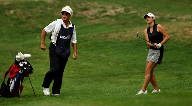 Jaye Marie Green fired a course-record 10-under 62 during the first round of the final stage of LPGA Q-School, with her dad/caddie, Donnie, on the bag.