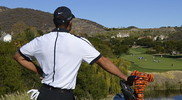Tiger Woods during the pro-am of the 2013 Northwestern Mutual World Challenge in Thousand Oaks, Calif.
