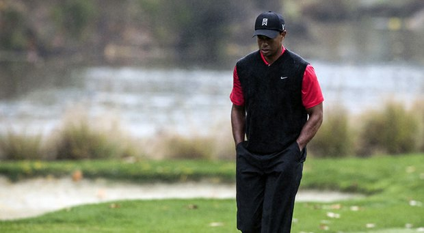 Tiger Woods during the Northwestern Mutual World Challenge in 2012.