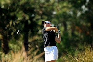 Amy Anderson is in 5th place after two rounds at LPGA Qschool final at LPGA International.
