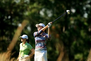 Jaye Marie Green posted a 68 following her first round 62 at LPGA Qschool final at LPGA International.