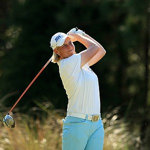 Reilley Rankin posted rounds of 70, 73 so far at LPGA Qschool final at LPGA International.