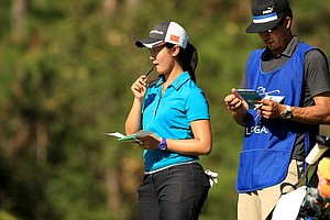 Xiyu Lin of China is T11 after two rounds at LPGA Qschool final at LPGA International.
