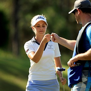 Kathleen Ekey, posted rounds of 67, 72 at LPGA Qschool final at LPGA International.