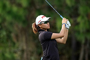 Babe Liu of Taiwan posted rounds of 71,75 at LPGA Qschool final at LPGA International.