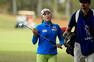 Seon Hwa Lee of South Korea posted rounds of 66,72 at LPGA Qschool final at LPGA International.