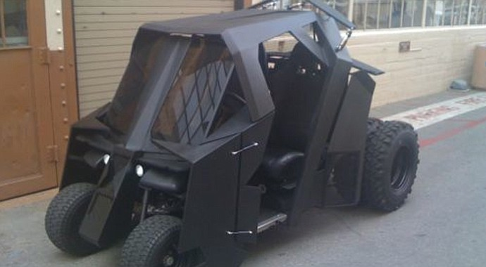 The Batman Tumbler Golf Cart was sold on eBay for $17,500 on Dec. 4.