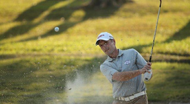 David Higgins during thr first round of the 2013 Hong Kong Open at The Hong Kong Golf Club.
