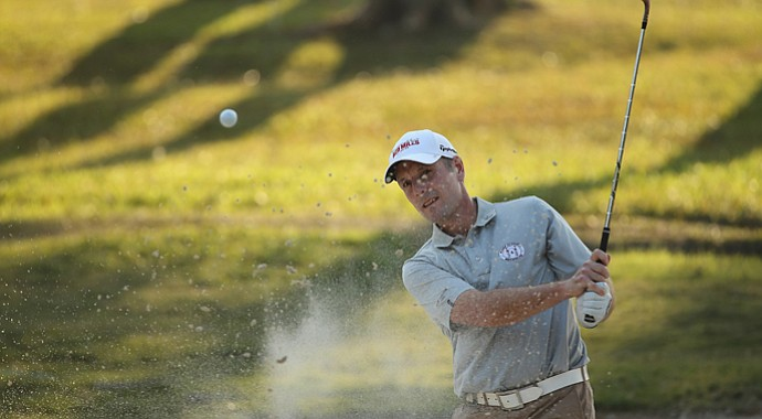 David Higgins during thr first round of the 2013 Hong Kong Open at The Hong Kong Golf Club.
