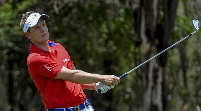 Luke Donald during the first day of play at the Nedbank Golf Challenge in Sun City, South Africa.