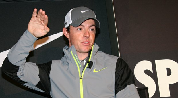 Rory McIlroy during Nike Golf's recent Innovation Unleashed event.