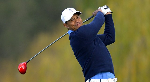 Tiger Woods during the first round of the Northwestern Mutual World Challenge.