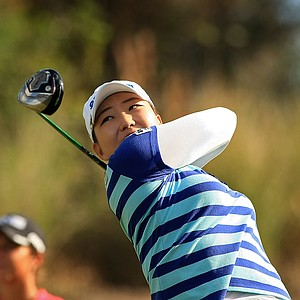 Mi Rim Lee of South Korea during LPGA Qschool final at LPGA International.