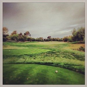 Rain rolled in mid-morning at Oak Creek, but play continued at the Industry Cup in Irvine, Calif.