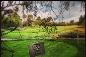 A look at the first hole during the Industry Cup at Oak Creek in Irvine, Calif.
