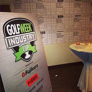 The leaderboards were up early at Oak Creek prior to the start of the 2013 Industry Cup in Irvine, Calif.