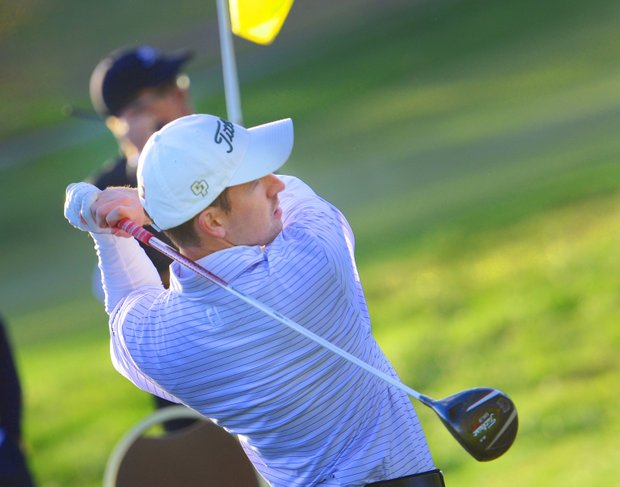 Titleist's Grant Martens captured the Long Drive Championship at the Industry Cup in Irvine, Calif.
