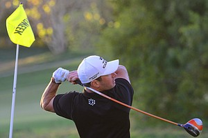 Cobra-Puma's Brett Viboch finished runner-up in the Long Drive competition at the Industry Cup in Irvine, Calif.