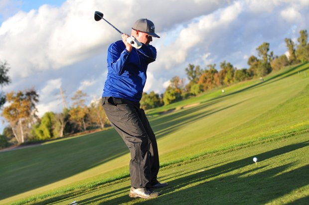 A group of 16 golfers played in a bracket-style Long Drive competition on Saturday at the Industry Cup, with the long drive coming in at 326 yards, while the winner Grant Martens had a 314-yard poke in the final.