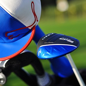 A little Rickie Fowler action to cover up a Cobra Bio Cell driver in the bag of Jose Miraflor.