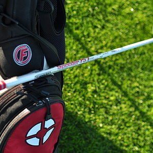 The team from Fujikura shows off its new Speeder 757 shaft at the Industry Cup in Irvine, Calif.