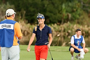Silvia Cavalleri of Italy during the LPGA Qschool final at LPGA International.