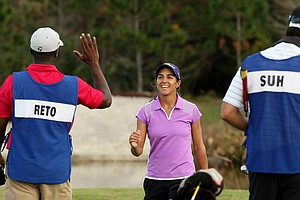Paula Reto secures her card during LPGA Qschool final at LPGA International.