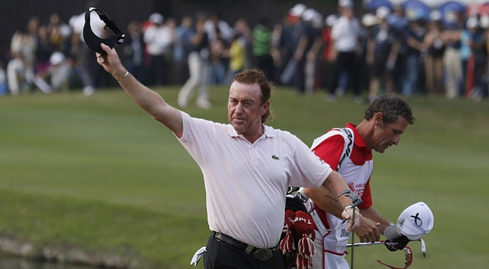 Miguel Angel Jimenez during the final round of the 2013 Hong Kong Open on European Tour.
