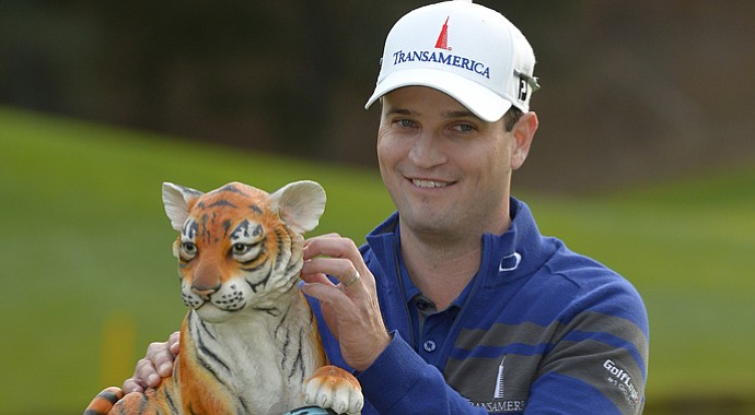 Zach Johnson after winning Tiger Woods' 2013 Northwestern Mutual World Challenge in Thousand Oaks, Calif.