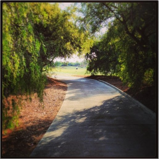 The path leading up to the sixth fairway at Oak Creek GC in Irvine, Calif.