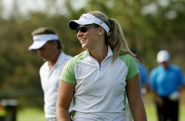 Christina Langer will be playing with her father, Bernhard Langer, in the PNC Father/Son Challenge at The Ritz Carlton Golf Club of Orlando.