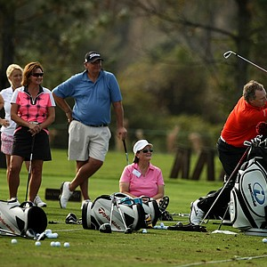 Bobby Clampett on the range on Wednesday during the PNC Father/Son Challenge at The Ritz Carlton Golf Club of Orlando.