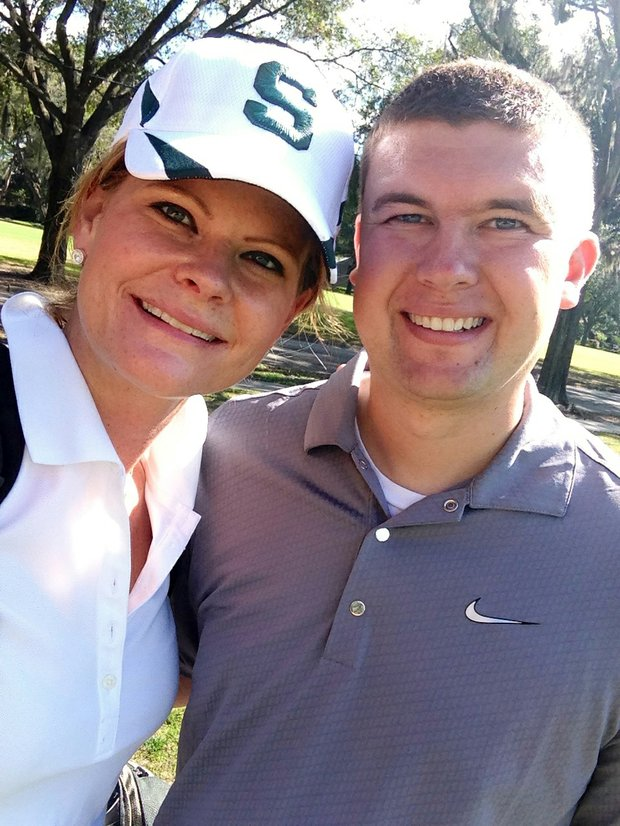 Beth Ann Baldry and her fiance Ben Nichols during their first round together.