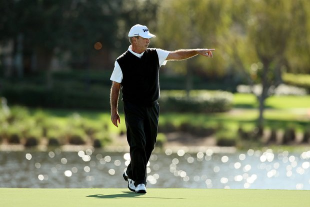 Larry Nelson during the PNC Father/Son Challenge Pro-Am at The Ritz Carlton Golf Club of Orlando.