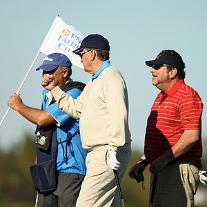 Raymond Floyd, center, during the PNC Father/Son Challenge Pro-Am at The Ritz Carlton Golf Club of Orlando.